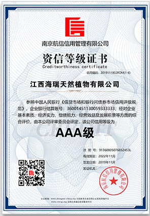 AAA credit registration certificate